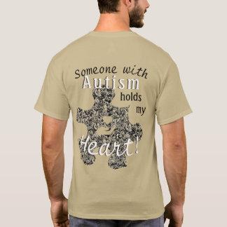 Gemarmortes Autismus-Puzzlespiel-Stück mit Text T-Shirt