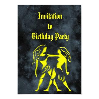 Gémeaux Carton D'invitation 12,7 Cm X 17,78 Cm