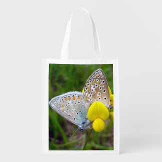 Gemeine blaue Schmetterlings-wiederverwendbare Wiederverwendbare Einkaufstasche