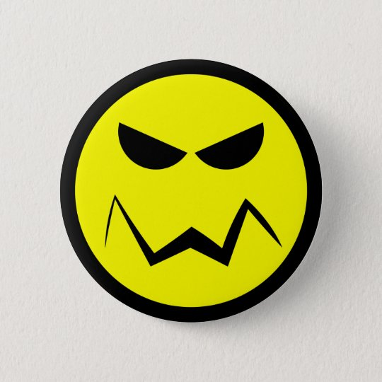 Gemeiner Knopf Herr-Smiley Runder Button 5,1 Cm