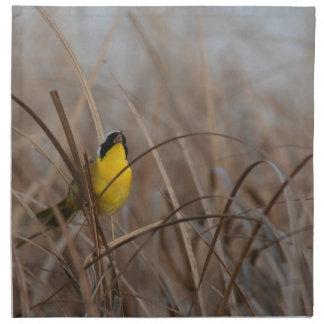 Gemeiner Yellowthroat-Vogel-Tier-Tier-Sumpfgebiete Serviette
