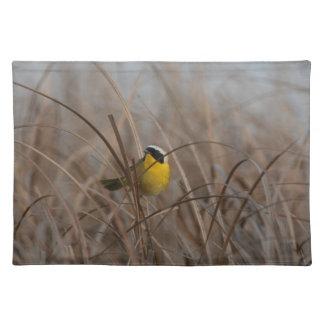 Gemeiner Yellowthroat-Vogel-Tier-Tier-Sumpfgebiete Tischset