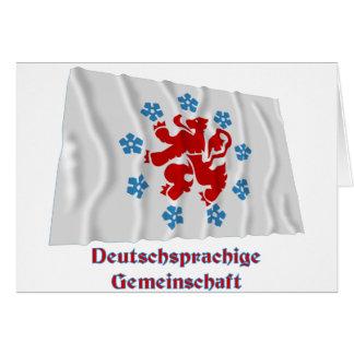 Gemeinschafts-wellenartig bewegende Flagge mit Karte
