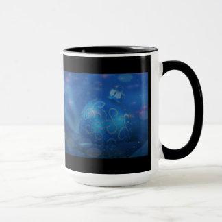 Gemischte blaue tasse