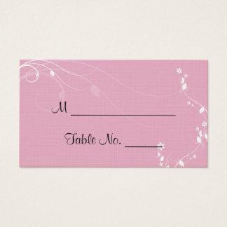 Gemischte Familien-Hochzeits-Platzkarten Visitenkarte