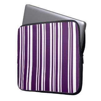 Gemischte lila und weiße Streifen Laptop Sleeve