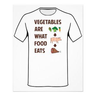 Gemüse ist, was Nahrung isst 11,4 X 14,2 Cm Flyer