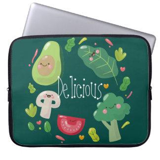 Gemüsecharaktere des köstlichen niedlichen Cartoon Laptop Sleeve