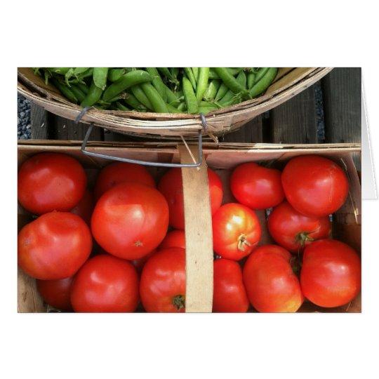 Gemüsekorb-Ernte Karte