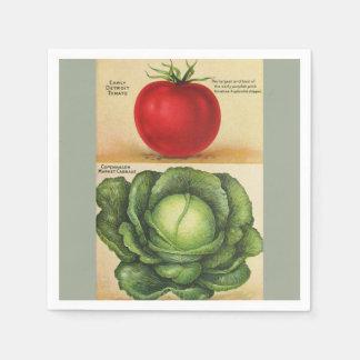Gemüsekunst des Vintagen Gartens, 1913 Servietten