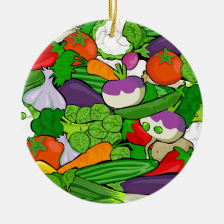 Gemüsemuster Keramik Ornament
