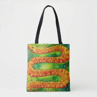 Gemusterte Schlange Tasche