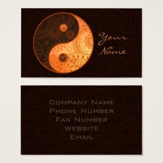 Gemustertes Yin Yang Gold ID325 Visitenkarte
