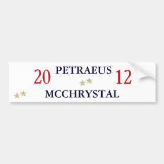 Gen. Petraeus und Gen. McChrystal für Präsidenten Autoaufkleber