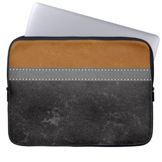 Genähter grauer Bügel Digital schwarzes Laptopschutzhülle