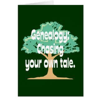 Genealogie: Jagen Ihrer eigenen Geschichte Grußkarte