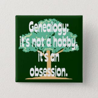 Genealogie-Obsession Quadratischer Button 5,1 Cm