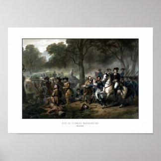 General George Washington im Kampf Poster