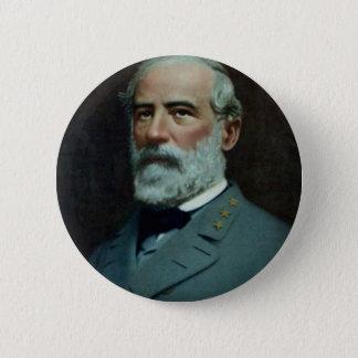General Robert E. Lee Runder Button 5,7 Cm