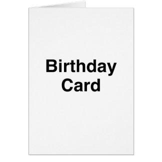 Generische Geburtstags-Karte Grußkarte