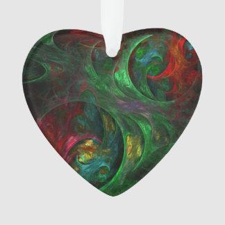 Genese-grünes abstraktes Kunst-Acryl-Herz Ornament
