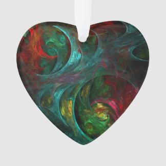 Genese-Nova-abstraktes Kunst-Acryl-Herz Ornament