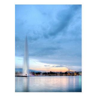Genf-Brunnen, die Schweiz Postkarte