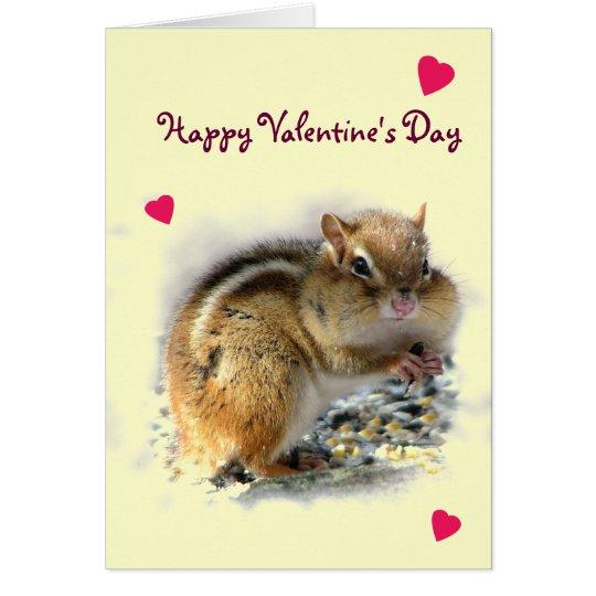Genießen des Chipmunk-Valentinsgrußes Grußkarte