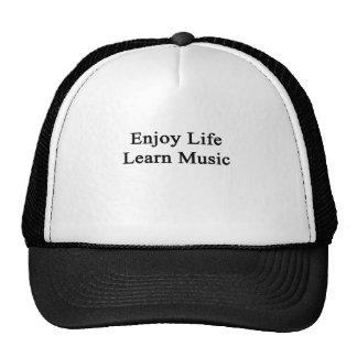 Genießen Sie das Leben lernen Musik Mützen