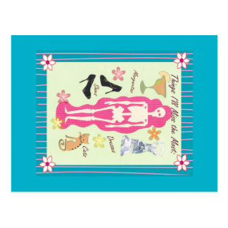 Genießen Sie Leben-Skelett-Postkarte Postkarte