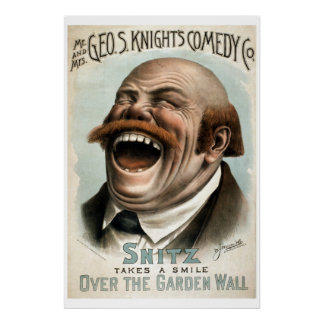 Geo H Theater-Plakat Weiß Vintages der Komödien-Co