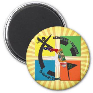 GEOCACE FLORIDA STAATS-MOTTO GEOCACHER RUNDER MAGNET 5,1 CM