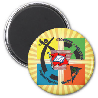 GEOCACHE ARKANSAS MOTTO-LEUTE-REGEL RUNDER MAGNET 5,7 CM