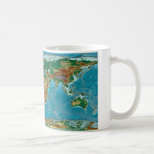 Geographische Weltkarte Tasse