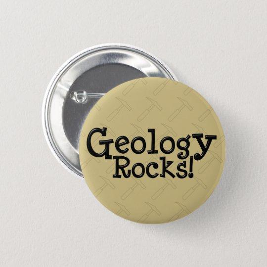 Geologie-Felsen! Runder Button 5,1 Cm
