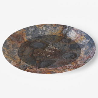 Geologie Sedementary Felsen-Oberfläche irgendein Pappteller 22,9 Cm