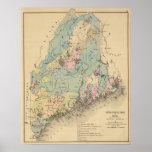 Geologische Karte von Maine Poster