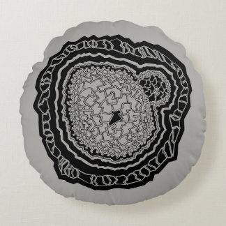 Geometric Mandala circle Rundes Kissen