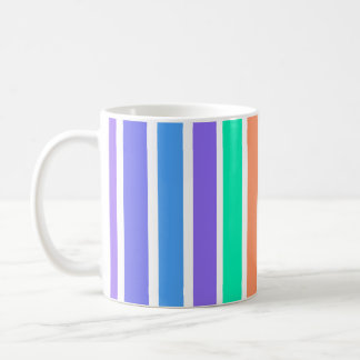 Geometric stripes in many colours design kaffeetasse