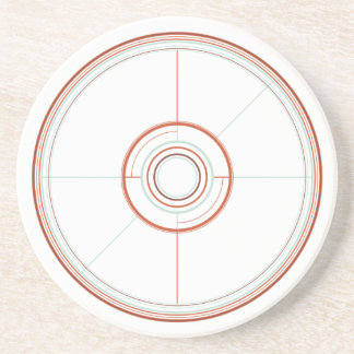 Geometric Wheel Sandstein Untersetzer