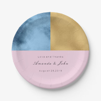 Geometrie-Marine-lila rosa Pappteller