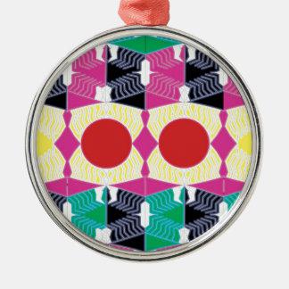 Geometrie Silbernes Ornament