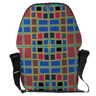 Geometrisch Kurier Tasche