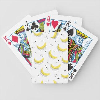 Geometrische Bananen Bicycle Spielkarten