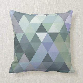 Geometrische Dreieck-nebelige Morgen-Blues Kissen