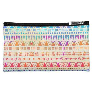 Geometrische ethnische böhmische bunte Hand Cosmetic Bag