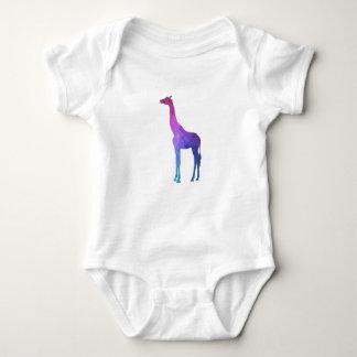 Geometrische Giraffe mit vibrierender Baby Strampler