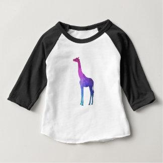 Geometrische Giraffe mit vibrierender Baby T-shirt