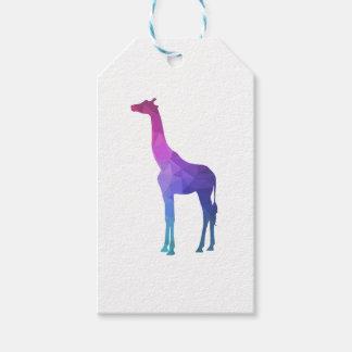 Geometrische Giraffe mit vibrierender Geschenkanhänger