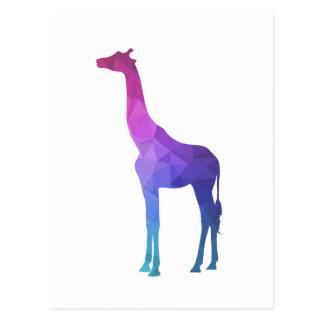 Geometrische Giraffe mit vibrierender Postkarte